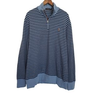 Polo Sweater NEW Pullover Quarter Zip Size XL